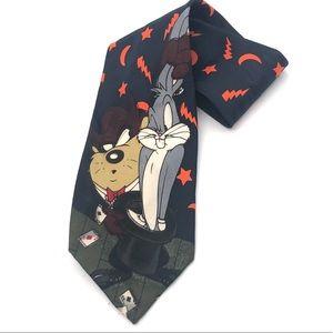 Looney Tunes Bugs Bunny and Tasmanian Devil Tie